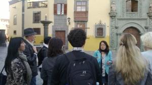 Ruta guiada por la Ciudad de Galdós dentro del proyecto europeo fuente: Biblioteca Pública Municipal de Arucas