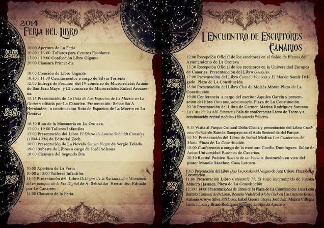 Programa Encuentro Escritores Canarios_2